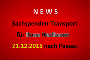 Sachspenden Ilona Haslbauer