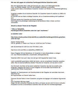 Presse-Text zum Buch: Hilfe zur Selbsthilfe, Familiengerichtliche Gutachten unter der Lupe?