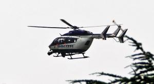 Rüsselsheim: Polizeihubschrauber im Einsatz über dem Main!