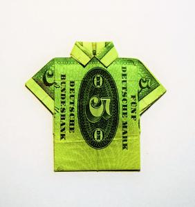 D-Mark Geld Hemd