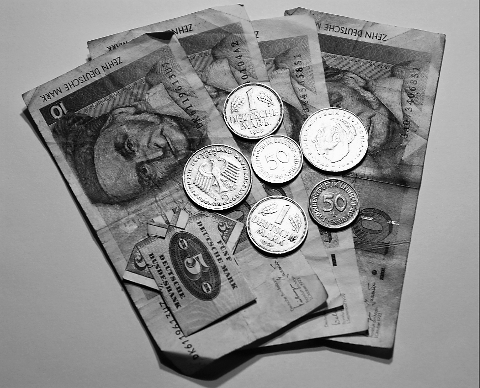 D-Mark Geld Scheine