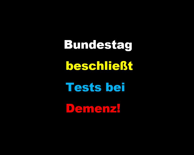 Bundestag Demenz