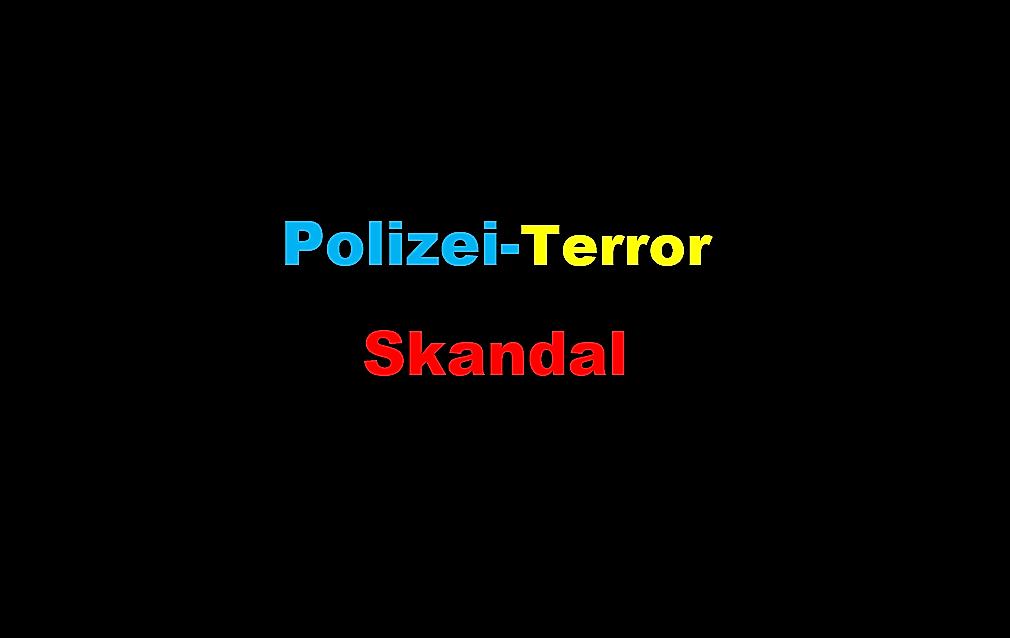 Polizei Terror Skandal