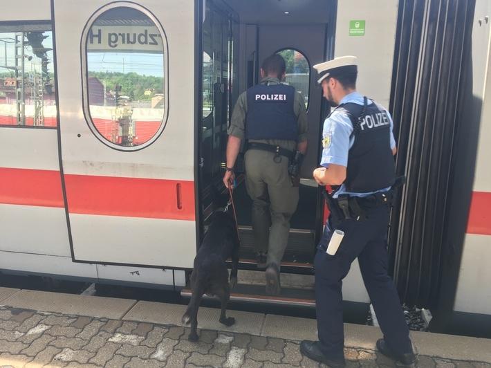 Foto: Bundespolizei bundespolizeidirektion-muenchen-herrenloses-gepaeckstueck-im-ice-verursacht-groesseren-polizeieinsat