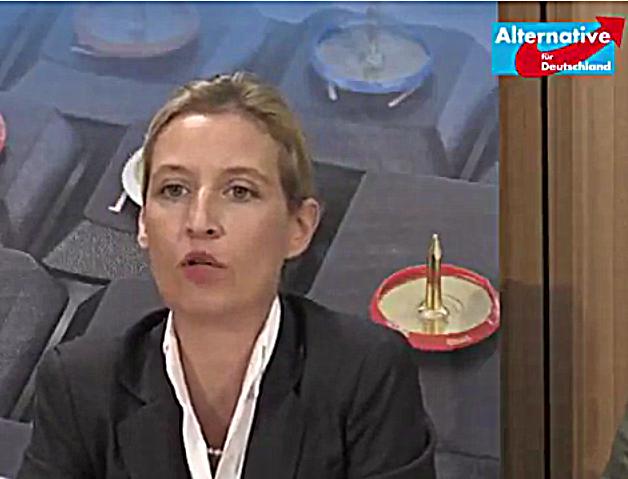 Screeshot vom AfD Pressekonferenz Alice Weidel & Alexander Gauland zu Linksextremismus & Netzdurchsetzungsgesetz vom 12.07.2017
