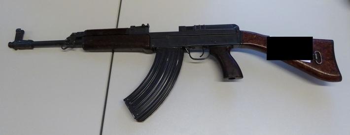 Sichergestelltes Gewehr