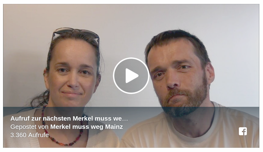 Foto by Screenshot: Facebook Merkel muss weg Mainz