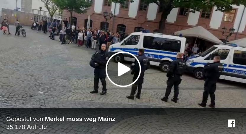 Foto by: Facebook #Merkelmussweg Mainz vom 24.04.2018