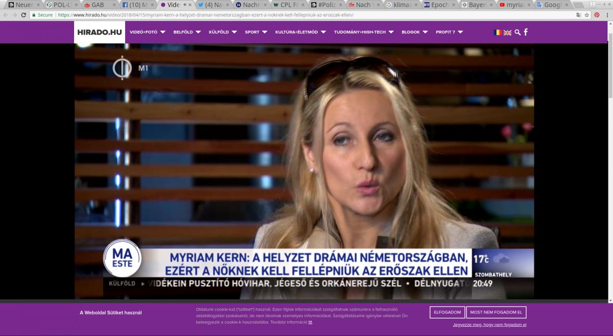 Screenshot by: https://www.hirado.hu/video/2018/04/15/myriam-kern-a-helyzet-dramai-nemetorszagban-ezert-a-noknek-kell-fellepniuk-az-eroszak-ellen/