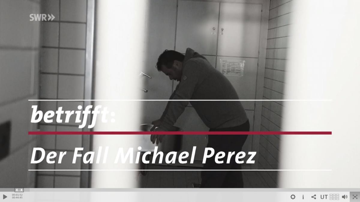 Film Michael Perez Foto by Screenshot: https://www.swr.de/betrifft/michael-perez-forensische-psychatrie-betrifft/-/id=98466/did=21740370/nid=98466/1dt4d50/index.html