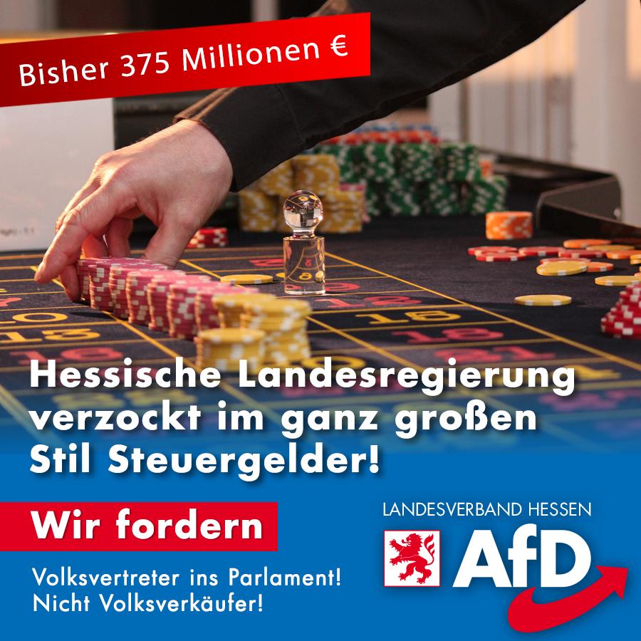AfD Hessen Landesregierung verzockt Steuergelder