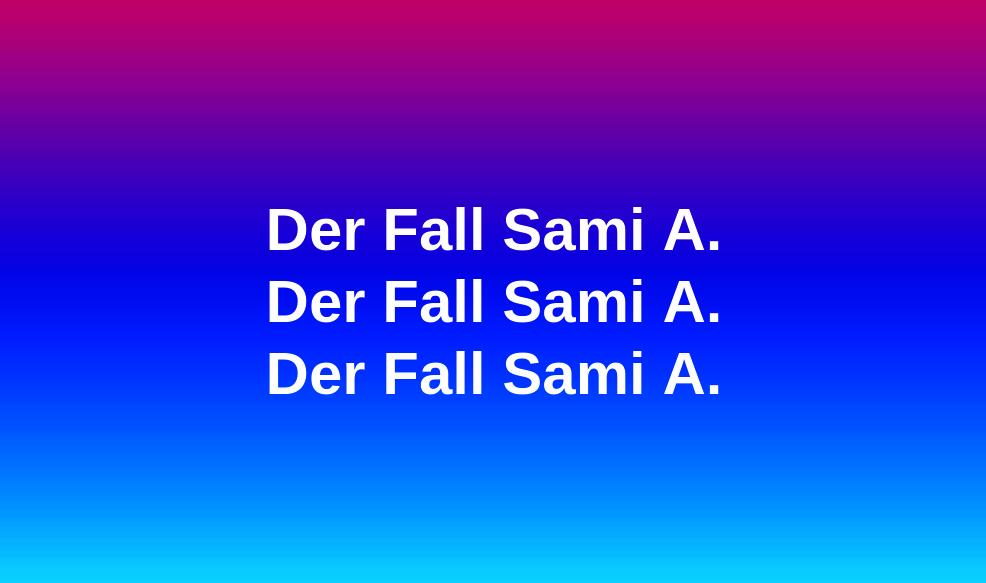 Der Fall Sami A.