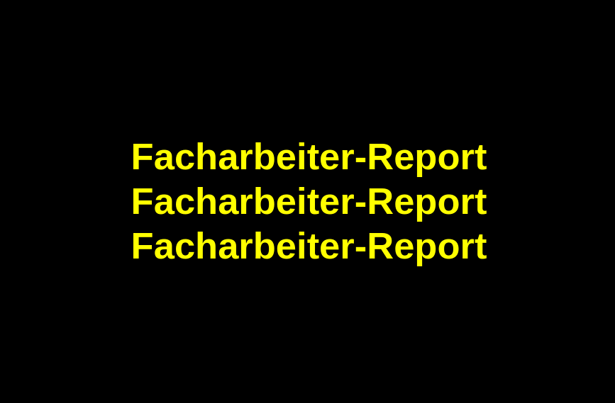 Facharbeiter-Report