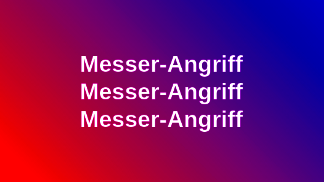 Messer-Angriff