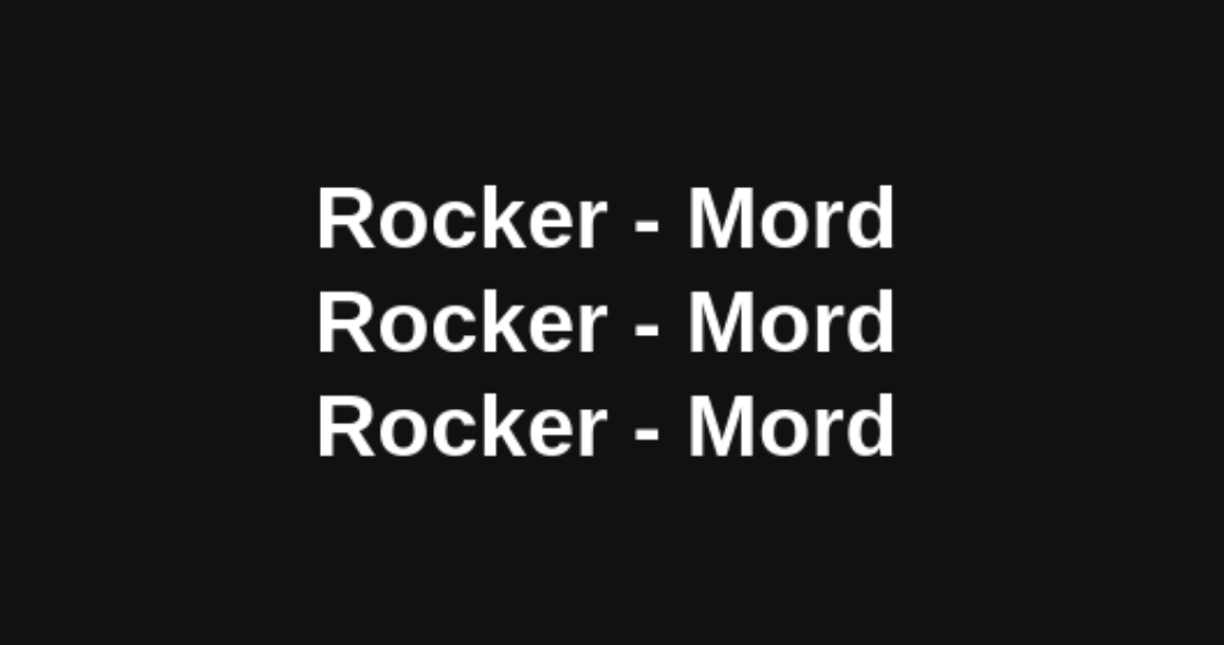 Rocker-Mord