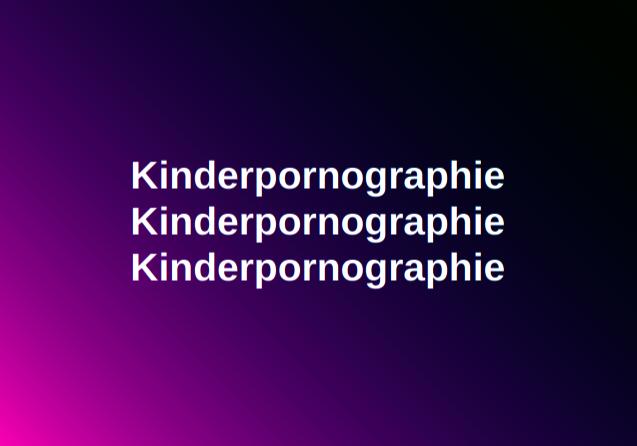 Kinderpornographie