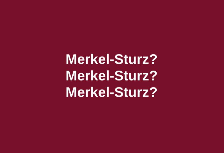 Merkel-Sturz