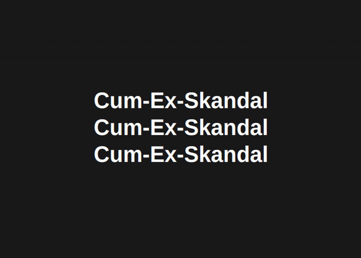 Cum-Ex-Skandal
