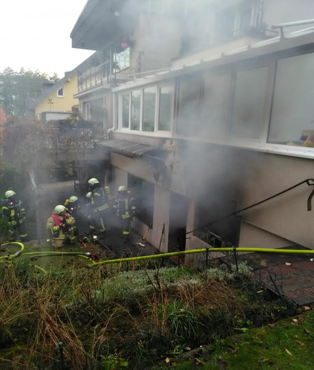 Einsatzkräfte der Feuerwehr Bergisch Gladbach