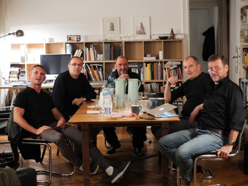 v.l.n.r.: David Berger, Ramin Peymani. Roger Letsch, Wolfgang van de Rydt, Thomas Bachheimer, nicht auf dem Bild ist Hanno Vollenweider