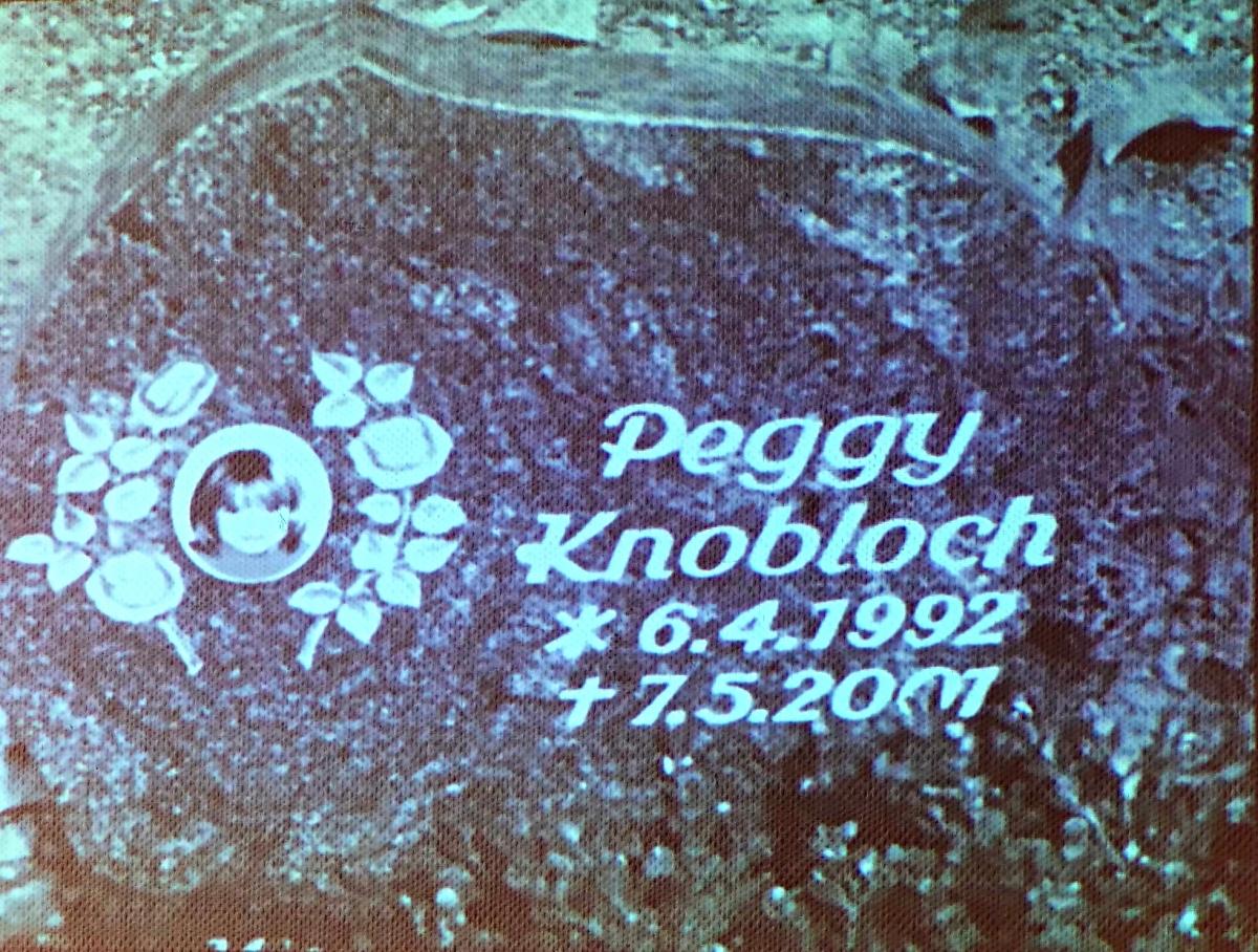 Grabstein von Peggy