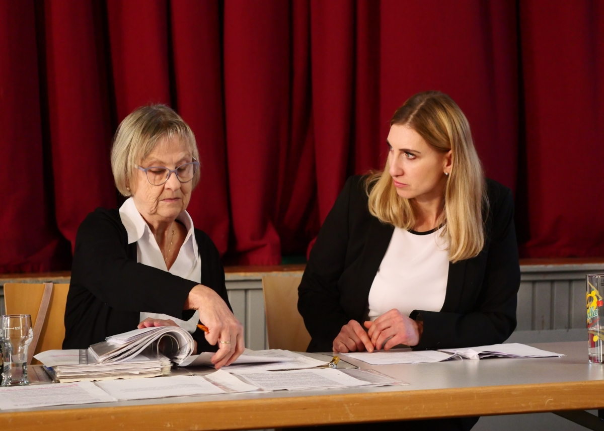 Gudrun Rödel und Hanna Henning